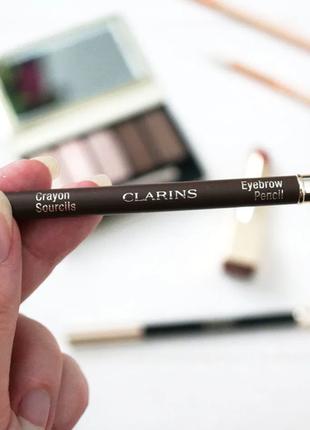 🎁сlarins карандаш для бровей - 01 dark brown 🧡💛💜