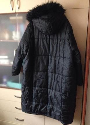 Утеплённое пальто батал2 фото