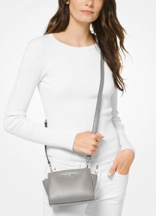 Женская сумка michael kors selma mini saffiano leather crossbody