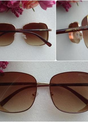 Новые красивые очки с блестящей боковой защитой, коричневые