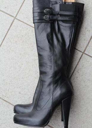 Роскошные итальянские кожные сапоги jean pierre 35 разм