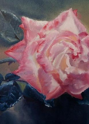 Картина маслом роза живопись