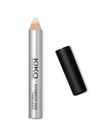 Карандаш-воск для бровей kiko eyebrow wax fixing pencil