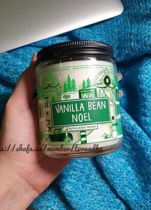 Ароматическая свеча bath and body works - vanilla bean noel