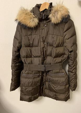 Зимний пуховик пальто коричневый на -30 градусов коричневый savage 48