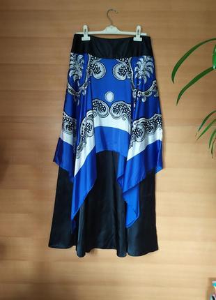 Оригинальная длинная юбка mango suit2 фото