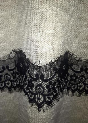 Блузка с кружевом размер 22-24