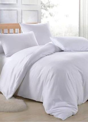 Шелковое постельное белье двуспальное белое