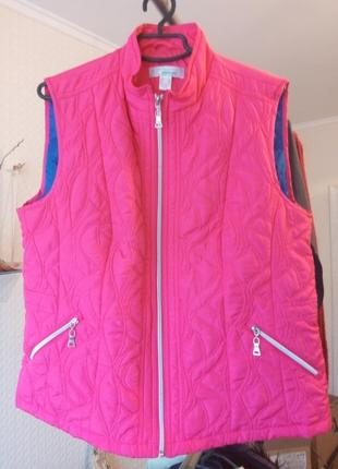 Женский стеганый жилет -куртка  artigiano weekend ( италия ) размер18 наш 52