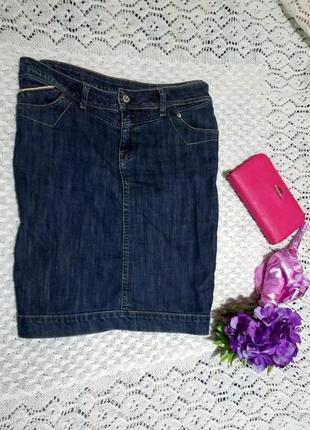 Джинсовая юбка-карандаш с манжетом zemax