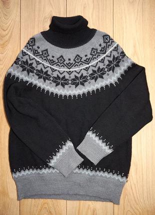 Брендовий жіночий теплий светр під шею з узором від eddie bauer