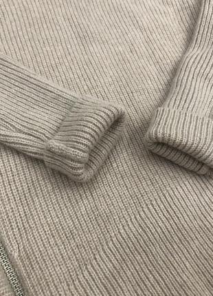 Шикарный стильный актуальный ассиметричный бежевый шерстяной свитер шерсть all saints4 фото