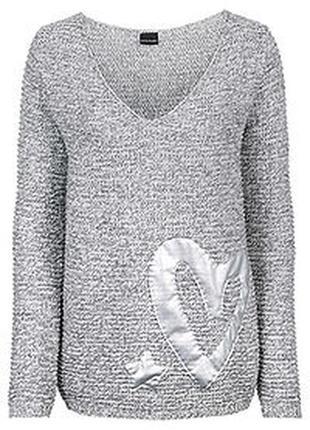 Меланжевый свитер джемпер р.54-56