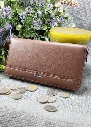 Большой кожаный кошелек-клатч, 100% натуральная кожа, есть доставка бесплатно