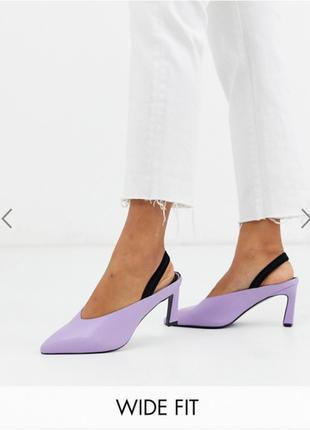 Лиловые туфли-босоножки от asos
