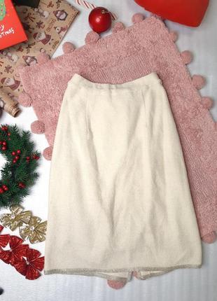 Повседневная трикотажная юбка карандаш до колена