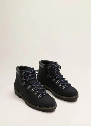 Крутые кожаные ботинки хайкеры для подростка mango - 40р - 26см