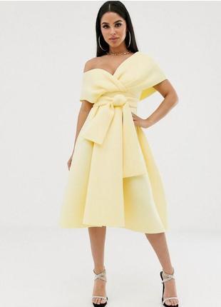 Asos жовта неопренова сукня