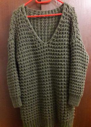 Шикарный свитер крупной вязки!2 фото