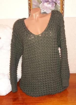 Шикарный свитер крупной вязки!1 фото