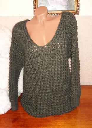 Шикарный свитер крупной вязки!5 фото