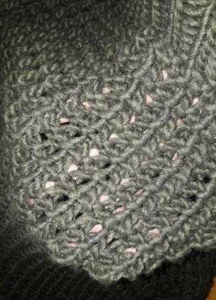 Шикарный свитер крупной вязки!3 фото