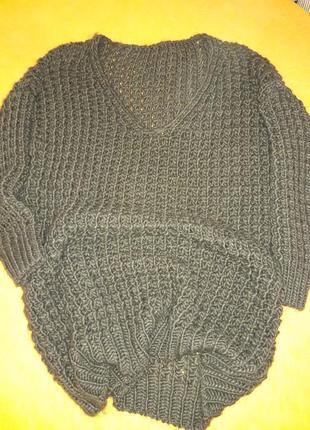 Шикарный свитер крупной вязки!6 фото