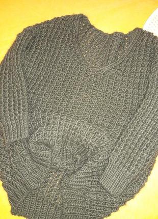Шикарный свитер крупной вязки!8 фото
