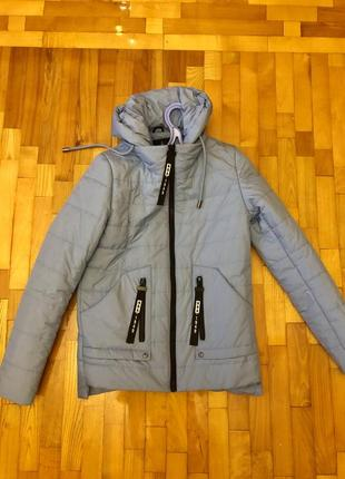 Куртка голубого цвета