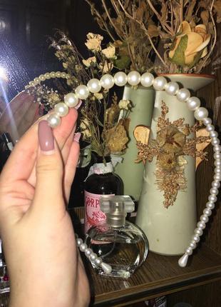 Винтажный жемчужный ободок (обруч) для волос, элегантный и женственный