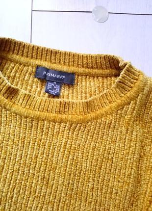 Велюровый горчичный свитер primark2 фото