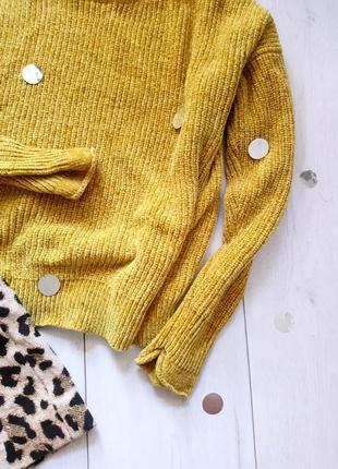 Велюровый горчичный свитер primark3 фото