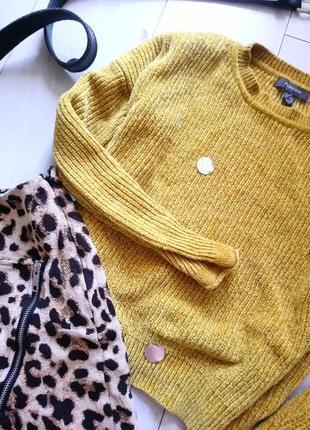 Велюровый горчичный свитер primark4 фото