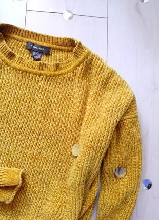 Велюровый горчичный свитер primark5 фото