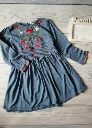 Платье вышиванка 3-4 года 104 р