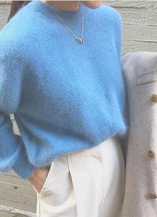 Розкішний лазурний светрик, шерсть/альпака
