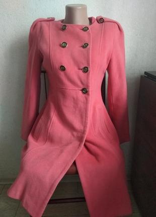 Кораловое  кашемировое пальто