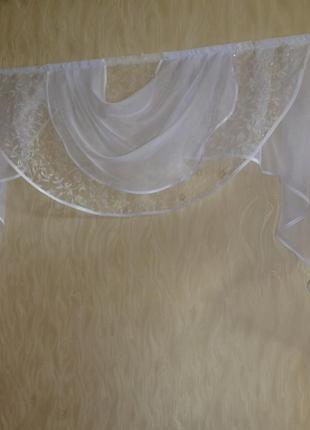 Ламбрекен, штора, тюль, гардина, занавеска 1.6 м для любой комнаты