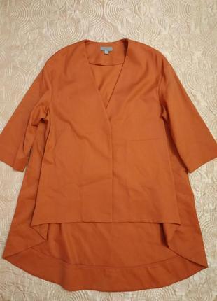 Шикарная шерстяная блуза медного цвета от cos