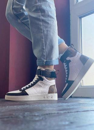 Женские кроссовки louis vuitton sneakers brown white