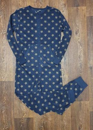 Стильная мужская флисовая пижама кенгуру человечек easy
