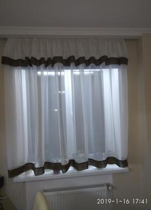 Тюль на кухонное окно