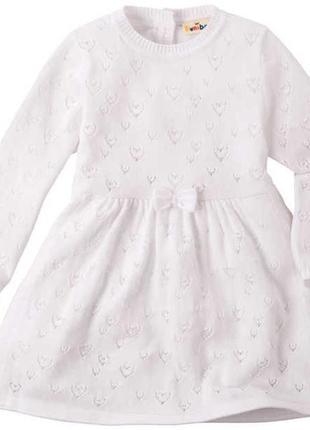 Вязянное платье для девочки kuniboo, германия р.86-92 на 1-2 года