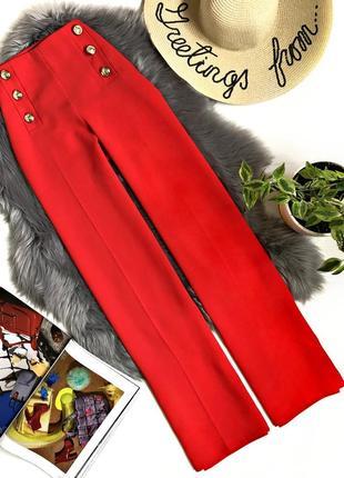 Шикарные расклешенные брюки с высокой талией