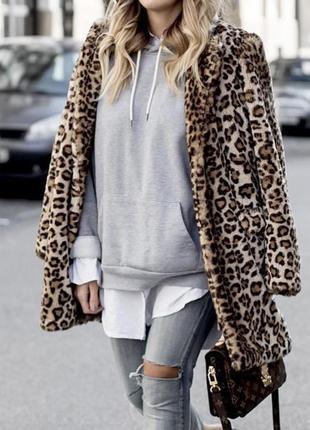Тигровая шуба пальто