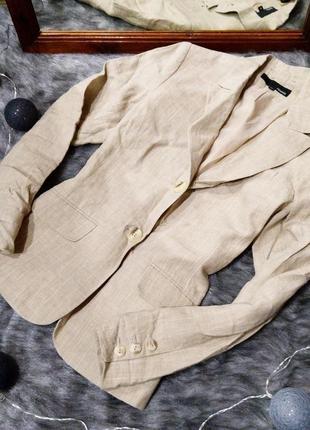 Жакет блейзер пиджак из 100% льна h&m