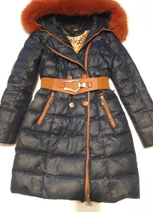 Пальто, пуховик зимний, гусиный пух
