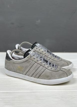Мужские кеды adidas gazelle original 43 кроссовки серые