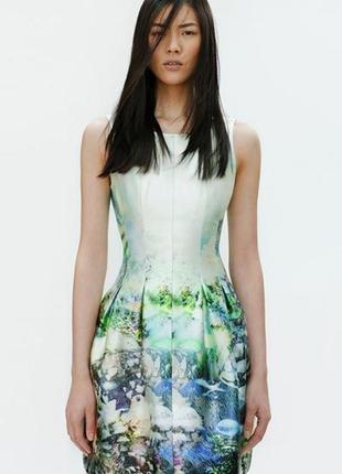 Хит блогеров коктейльное платье с принтом рыбки аквариум от zara лимитированная коллекция