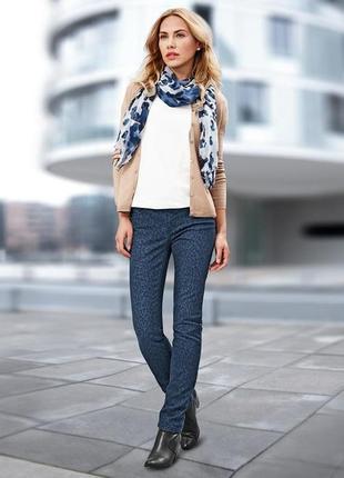 Красивые джинсы с леопардовым принтом tchibo  германия.